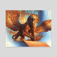 Glyph Keeper - Canvas by Chris Rahn