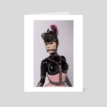 Plastic Series: Pink Amazon (Portrait) - Art Card by Rebeca Puebla