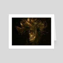 Golden  feathers - Art Card by Flavia Raddavero