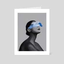 Blue Girl - Art Card by Henrique  Nobrega