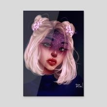 Starry eyes - Acrylic by Chixie