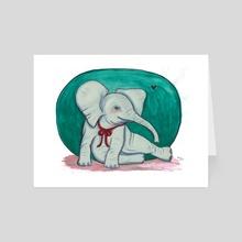 Joyful Elephant - Art Card by Nicole Georges