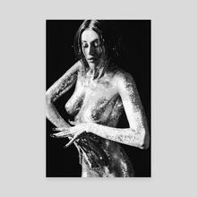 Shiny mermaid 17 - Canvas by Kseniya Lokotko