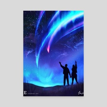 Your name fan art - Canvas by Anthony  Ebengho