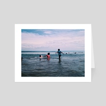 Life Around the Beach 05 : The Family Time - Art Card by Aggnarut