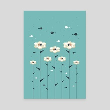 Floral Fish Hive - Canvas by Dahlia