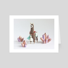 Crystal Llama - Art Card by Wei