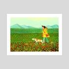 Flowers, Everywhere - Art Print by Carlotta Notaro