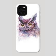 Watercolor owl portrait - Phone Case by Dmitry Kaidash