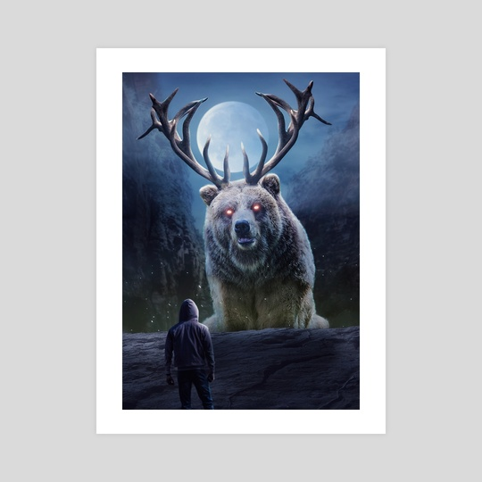 bear with horns by ethereal  designs
