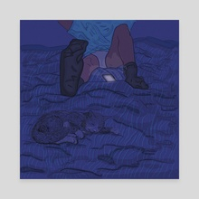 Midnight wait - Canvas by Martha Saint Martin
