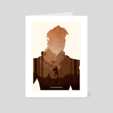 Pocahontas - Art Card by Ryan Ripley