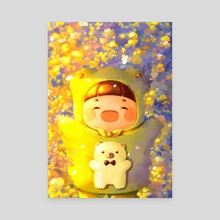 Happy Yu - Canvas by Gummy Illustration