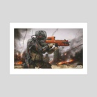 Future Soldier  - Art Print by Jude Smith