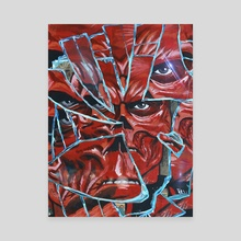 Shattered (Red Skull) - Canvas by Kyle Willis