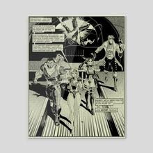 X-men Manga Page 5 - Acrylic by Joel Furtado