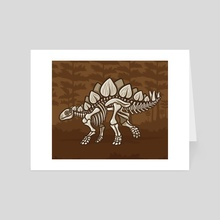 Extinct Lil' Stegosaurus - Art Card by Jennifer Smith