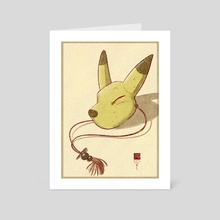 The Keaton Mask - Art Card by Joseph Eichstaedt