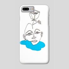 Blue Rose Woman - Phone Case by Emily  Allis