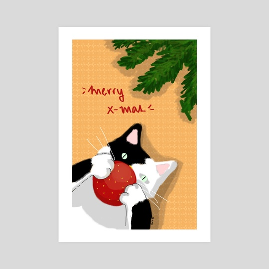 christmas cat by Natalie Saez