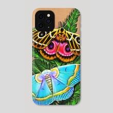 Moths & Ferns  - Phone Case by Morgan Davidson