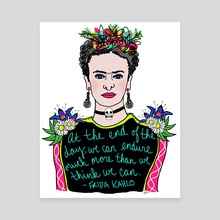 Frida! - Canvas by Allie Oliver-Burns