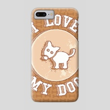 I love my dog - Phone Case by Enrique Valles