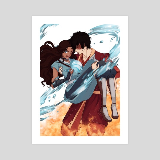 Zutara in their Elements by Lailanie Manalang