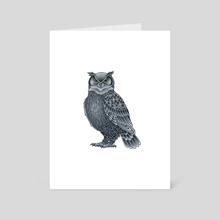 Grey Owl - Art Card by Adam Lindsay Honsinger