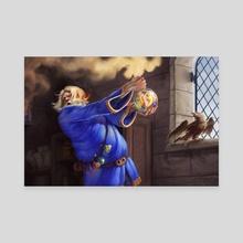 Blue Alchemist - Canvas by Lancelot Richardson