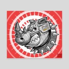 Robo Rhino - Canvas by Ryan Genovese
