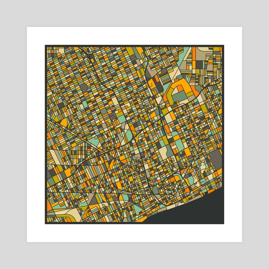 Detroit Map 2 by Jazzberry Blue