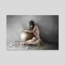 Wound - Acrylic by Stephanie Facer