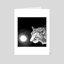 Iberian lynx - Art Card by Galeria Ginkgo