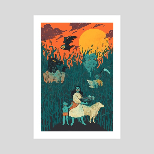 Harvest Moon by Lucy Comer