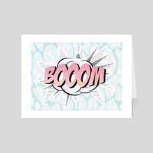boom pastel - Art Card by Loulouvonglup