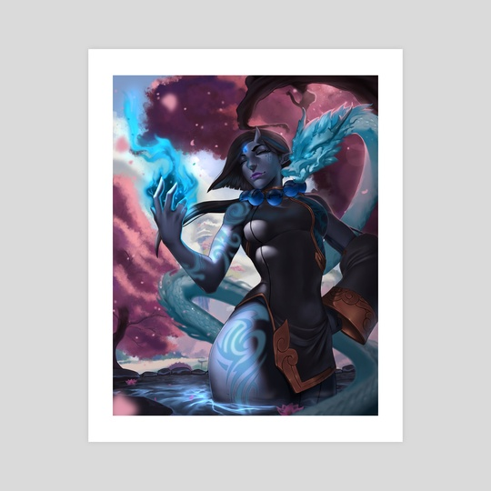Blue Oni by Raijin Art