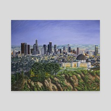 Los Angeles Skyline - Canvas by Andy Villon