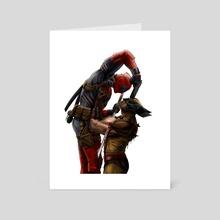 Deadpool v. Wolverine - Art Card by Tom Velez