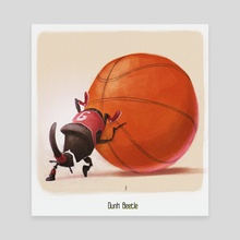 Dunk Beetle - Canvas by Sérgio  Saleiro