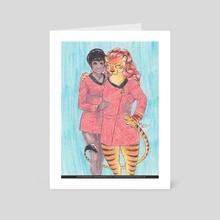 Space Girlfriends - Art Card by En Gingerboom