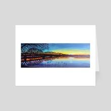 Walking Bridge Sunset - Art Card by Jim Middleton