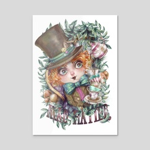 Mad Hatter - Acrylic by Mili Koey