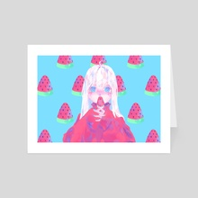 Watermelon - Art Card by Fortisselle