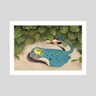 Flying fish #11 - Art Print by Adela Li