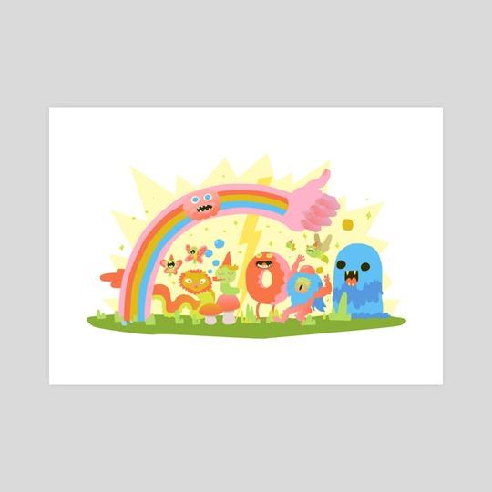 Happy Rainbow Birthday by Willem Rosenthal
