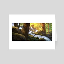 A forest stream - Art Card by Ture Ekroos