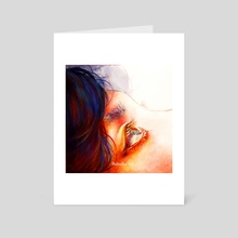 """Galaxy in your eyes"" Jungkook - Art Card by Buhuhu Art"