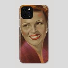 Rita Hayworth - Phone Case by David Robinson