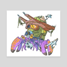 Techno Crab - Canvas by Alain Gruetter